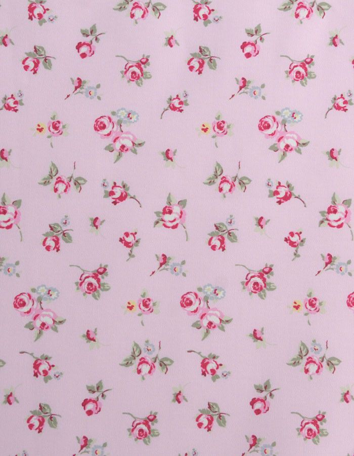 z. SAMPLE Oilcloth Fabric Rosebud Rose