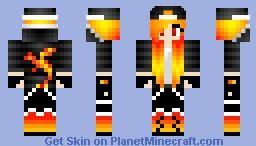 red dragon girl Minecraft Skin