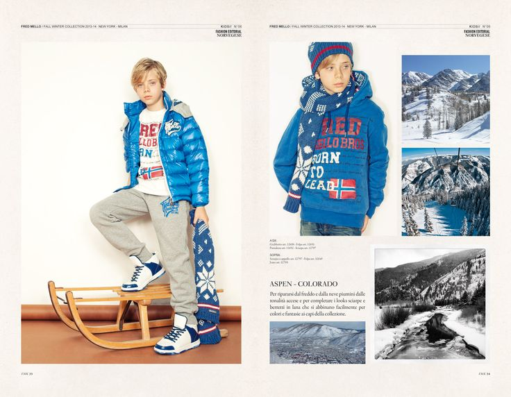 NORVEGESE  Fred Mello kids #magazine #kids #new #fredmello #fredmello1982 #newyork #advcampaign#fallwinter13 #accessible luxury #cool #usa #kidscollection