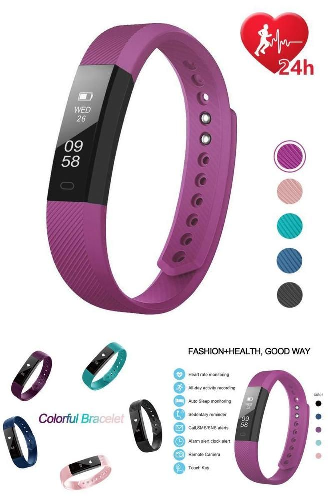 Fitness Activity Tracker Watch Fitbit Heart Rate Monitor Pedometer Android IOS S #LETSCOM