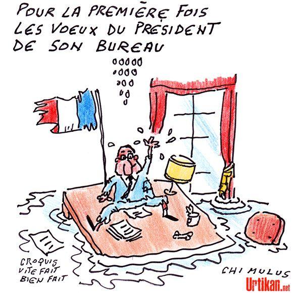 Hollande : des vœux combatifs pour 2015 - Dessin du jour - Urtikan.net