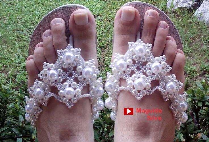 Chinelo Luxo para Noiva Chique! Por Maguida Silva!