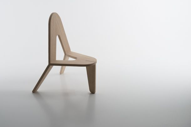 """""""UNO"""" BY HANNE MARTHE KOMMEDAL A chair for parents (or grandparents) when they play with their children, so they don't have to sit on the floor, but are not far from the ground."""
