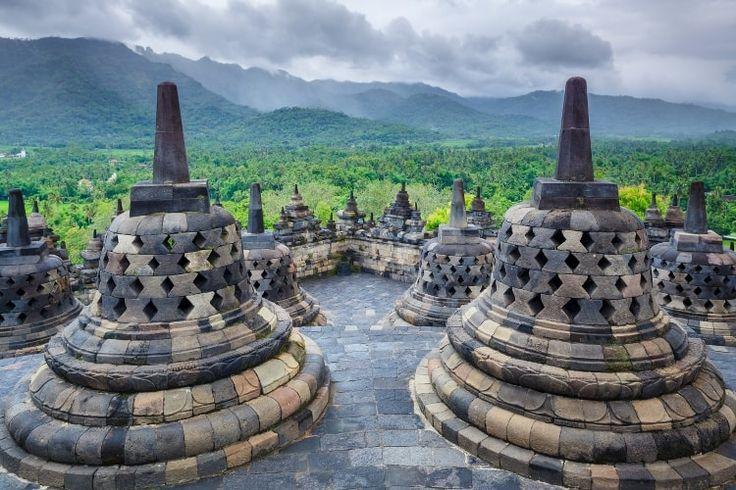 Le temple de Borobudur en Indonésie