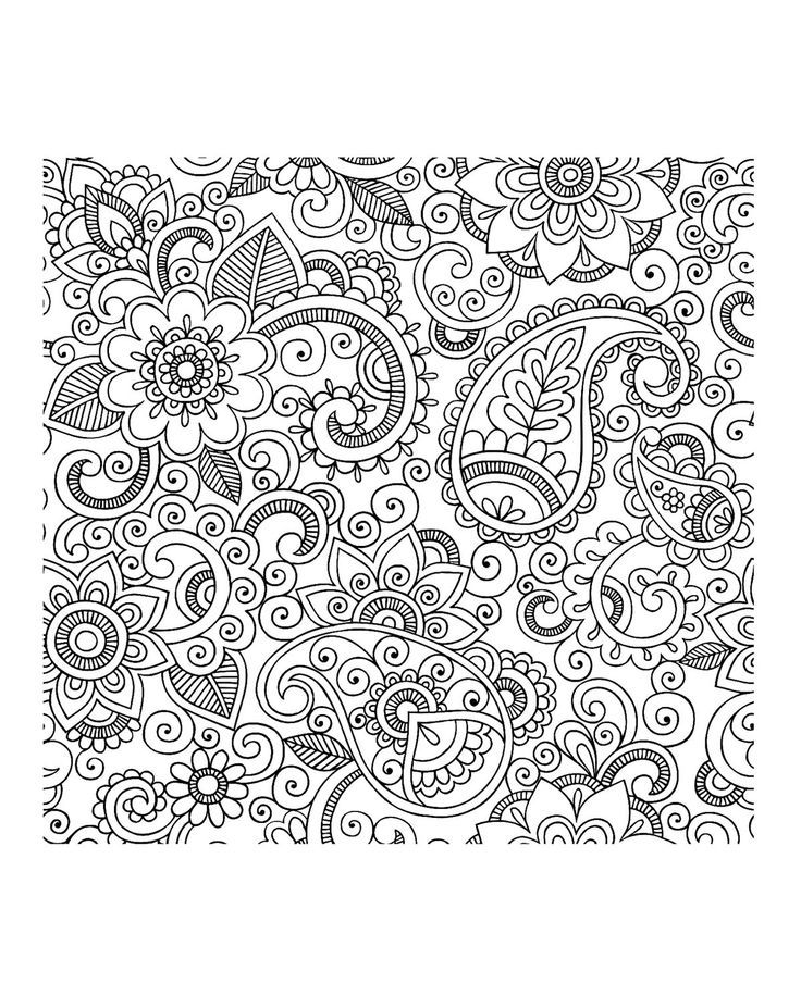 Free Coloring Page Adult Paisley Iran Flowers With Pretty Petals Mixed Motifs A Beautiful Perspective That Will Immerse