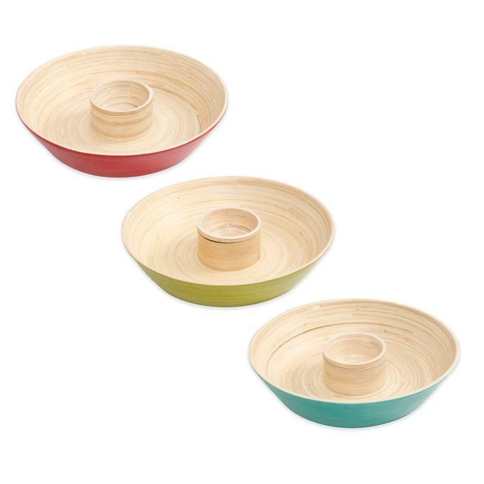Gibson Overseas Bamboo Chip Dip Tray Bed Bath Beyond Dip