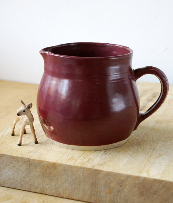 Ruby red pottery jug £12