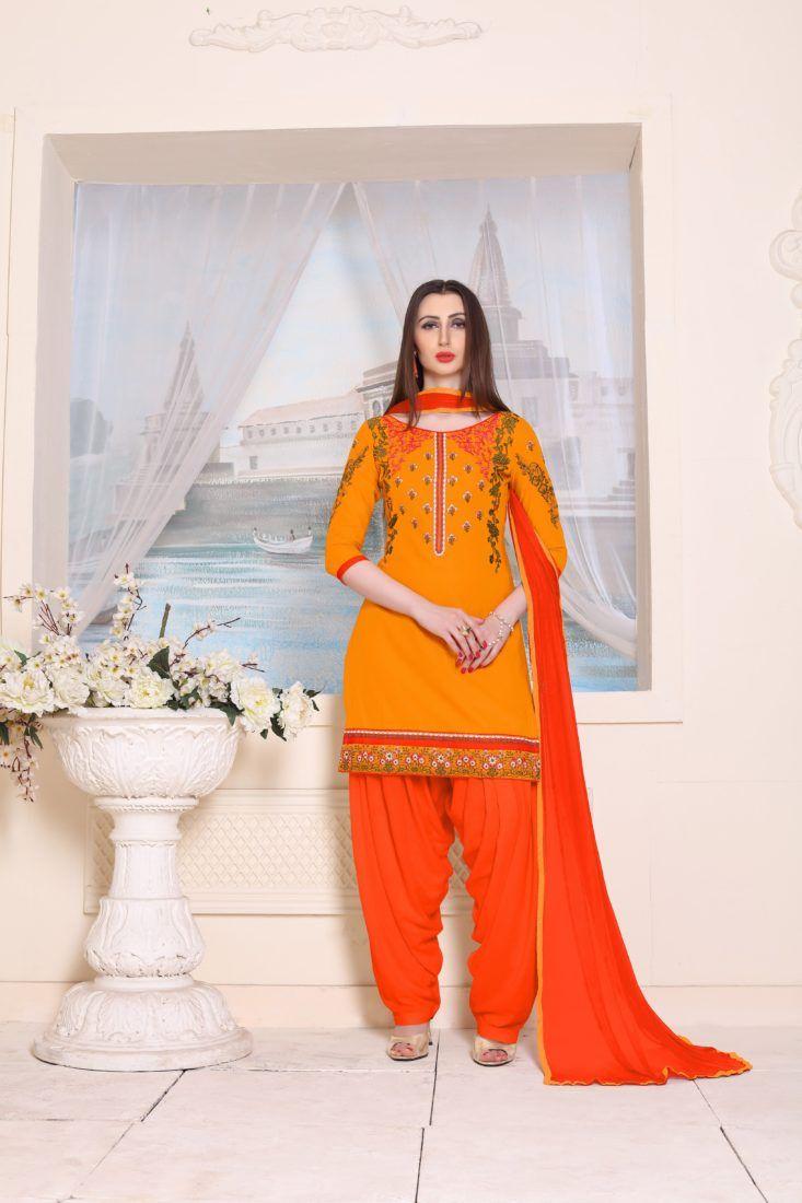 Definitive Mustard Cotton Heavy Embroidery Work Patiala Salwar Suit - ClickOnBazar  #designerpatialasalwar #patialasalwarsuits #designerpatialasalwar #clickonbazaarpatialasuits