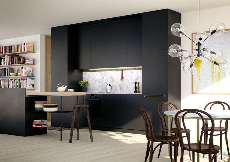 HG7 #oscarproperties kitchen, interiors, design, inspiration, floor, hammarby sjöstad, stockholm, sweden #packhuset
