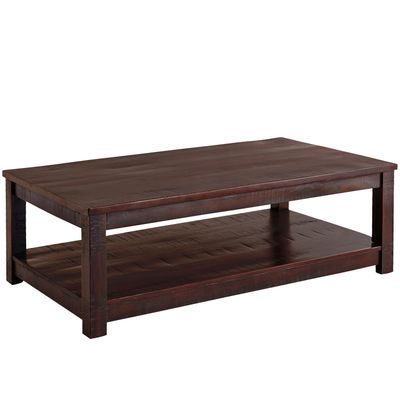Parsons Large Tobacco Brown Coffee Table Brown Coffee Table Large Coffee Tables Black Coffee Tables