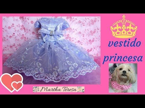 DIY- Vestido Estilo Princesa para tu Perrita talla 0 - Molde y Confección. - YouTube