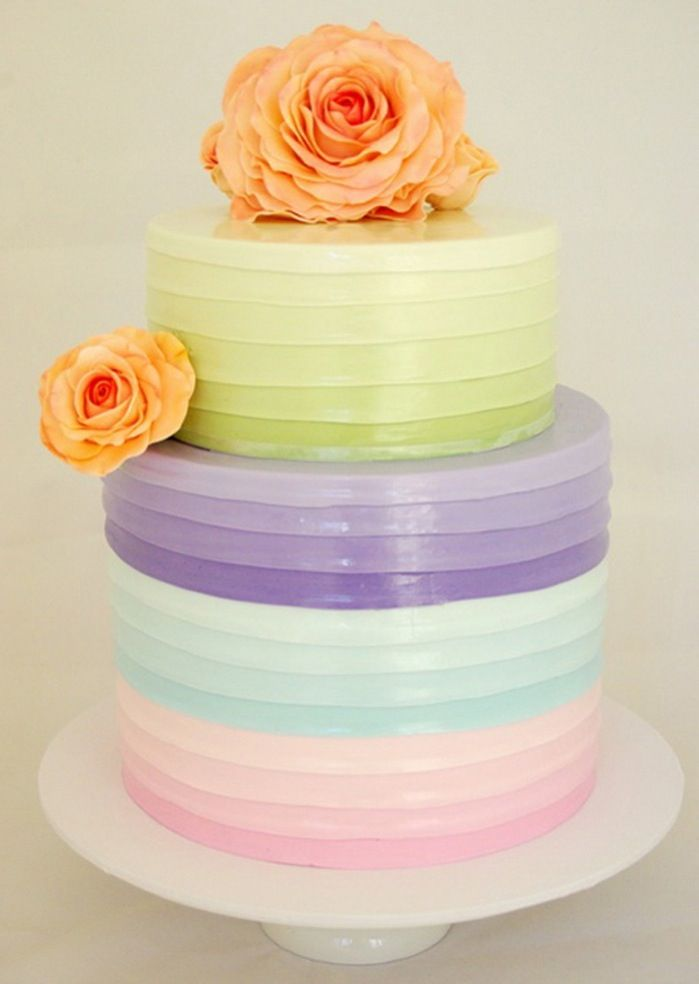 Loving These Colourful Cakes At The Min Pastel WeddingsPastel