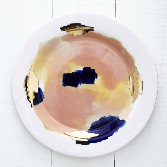 Canyon Series: Bryce Hand Painted Porcelain Dinner Plate with 14K Gold Luster