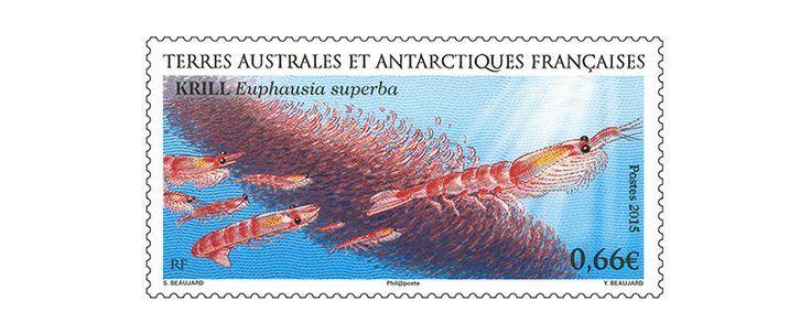 COLLECTORZPEDIA: TAAF Stamps Antarctic Krill (Euphausia superba)