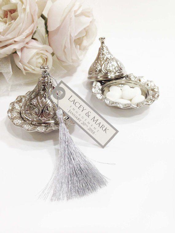 Unique Wedding Favor Boxes Silver Wedding Favours Elegant Wedding