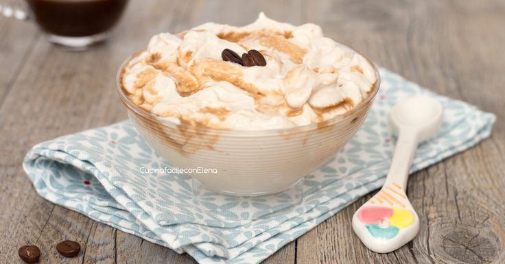 La crema al caffè leggera è una ricetta velocissima da preparare, senza cottura, senza panna, senza uova e con poche calorie!