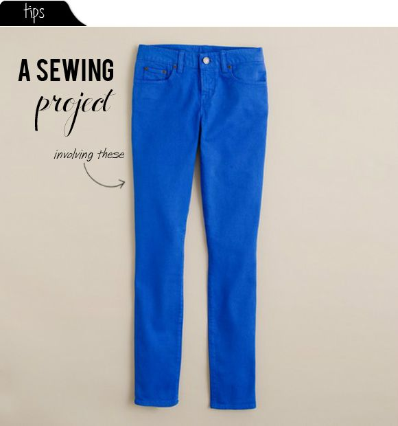 From straight to skinny: a sewing project (ah, but, alas, Fall and Winter 2015 fashion indicates skinny jeans are o●u●t and flare/bell-bottoms as well as at-the-waist jeans are i●n)