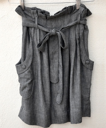 /Sewing, Pocket Skirts, Fashion, Black Chambray, Grey Skirts, Hyden Yoo, Beautiful Grey, Farms Skirts, Chambray Skirts Lov