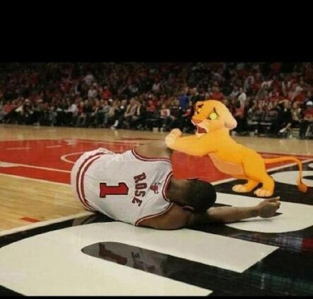 The Derrick Rose Injury   The Best Sports Memes Of 2012