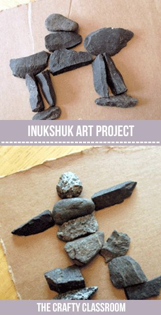 Native American Tribes: Inuit: Inukshuk project for kids