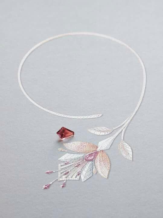 Beautiful | Boucheron | Jewelry Renderings Drawings Sketches