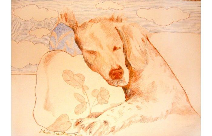LOT 76 - SILVIA TRĂISTARU - Cleo [2014] - Coloured pencils on paper - 21 × 29 cm (8.3 × 11.4 inch) - Estimate €200 - €300 http://lavacow.com/current-auctions/lavacow-christmas-auction/cleo.html#sthash.hBMCZ3sw.dpuf