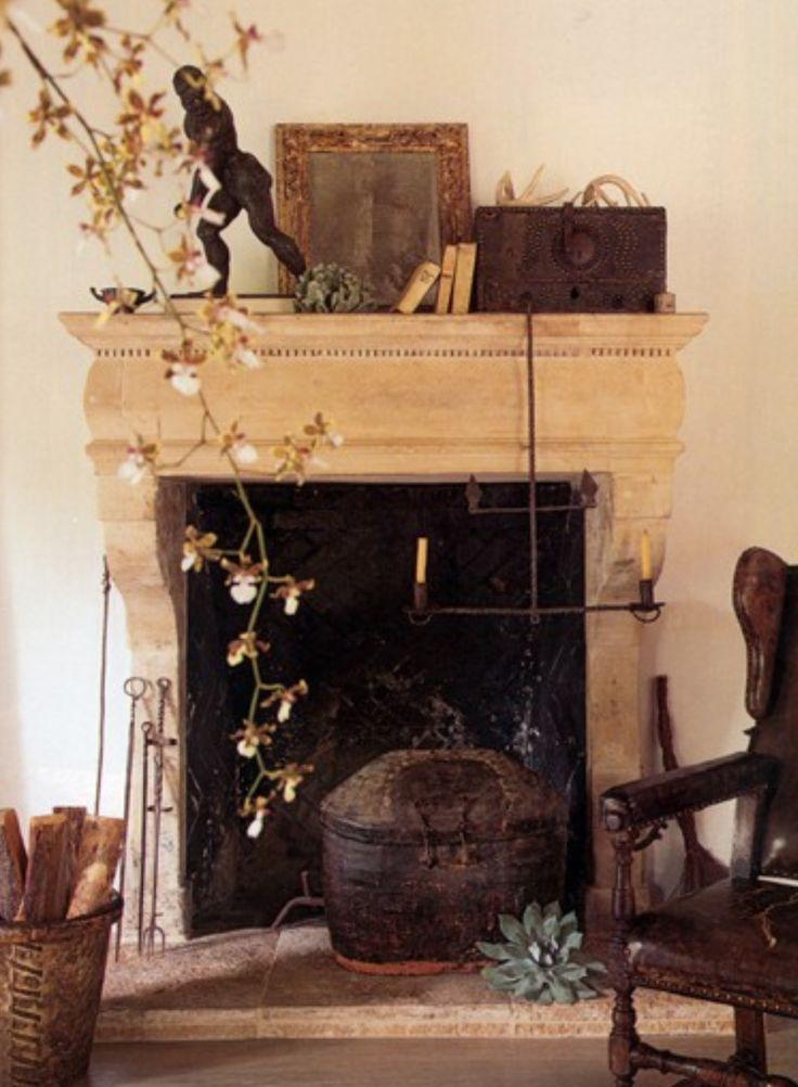 In good taste richard hallberg design beautiful fireplace