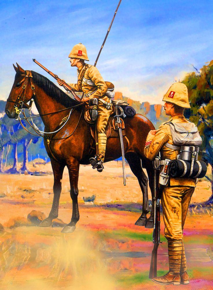 British Royal Irish Fusiliers with Royal Dragoons, Boer War