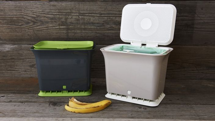 Fresh Air Kitchen Compost Collector by Full Circle Home I have thought about composting this may help me see if its workable for me.