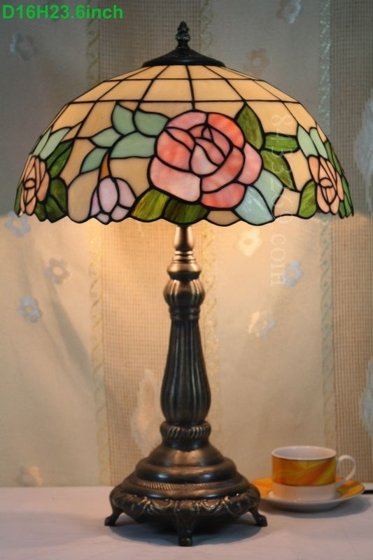 Rose Tiffany Lamp 16S0-108T615