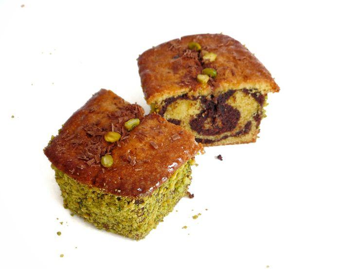 Cake marbré pistache-chocolat - Recette Olivia Pâtisse