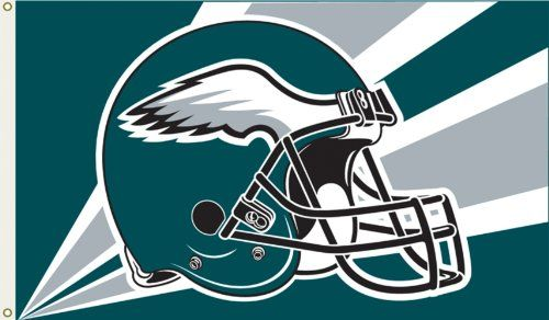 NFL Philadelphia Eagles 3-by-5-foot Flag  https://allstarsportsfan.com/product/nfl-philadelphia-eagles-3-by-5-foot-flag/  Reinforced sewn header with grommets Display inside or outdoors Bright color team logo