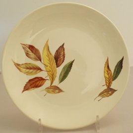 Golden Fall pattern dinner ware www.VintageTreasure.co.nz