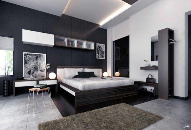Photographs Monochrome Modern bedroom black and white prints