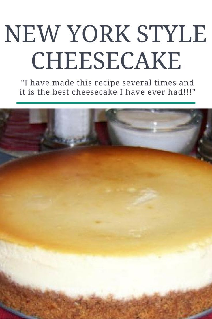 The creamiest and easiest New York Style Cheesecake you'll ever have!