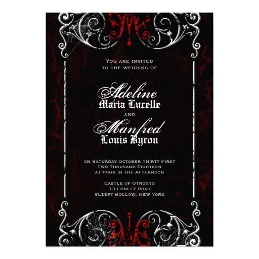 106 best halloween wedding invitation images on pinterest, Invitation templates