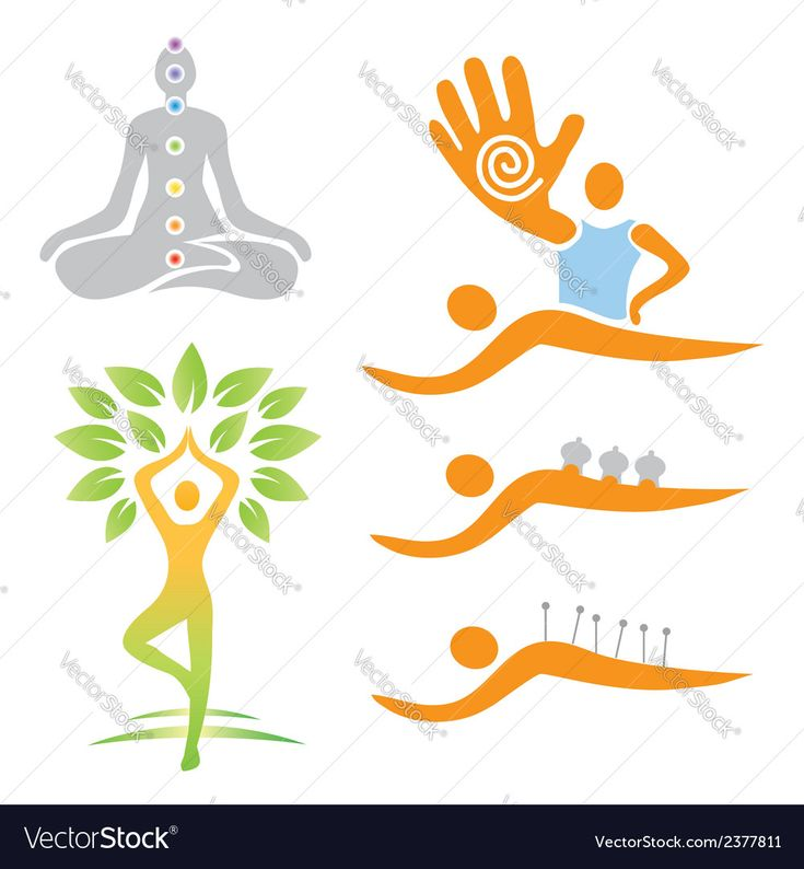 Vector image of Icons yoga massage alternative medicine Vector Image, includes tree, icon, nature, cartoon & silhouette. Illustrator (.ai), EPS, PDF and JPG image formats.