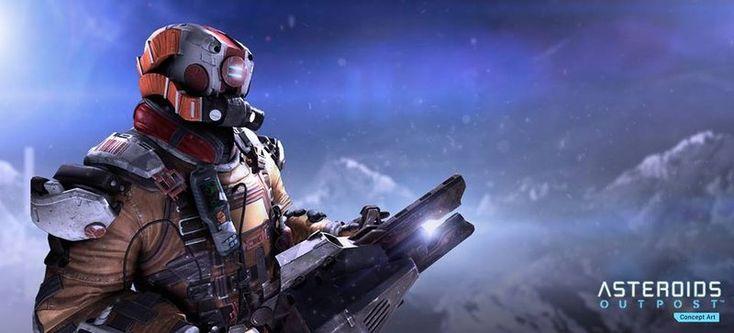 Геймплей онлайн игры на выживание Asteroids Outpost