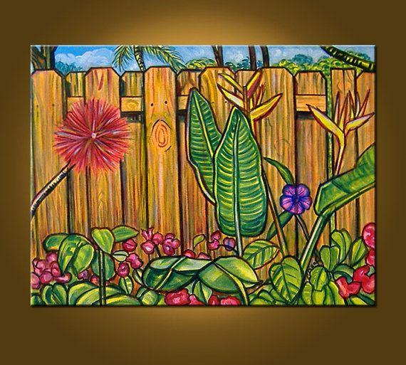 Crayola Garden  18 x 24 inch Original Oil by ElizabethGraf on Etsy, $129.00: Originals Oil, Oil Paintings