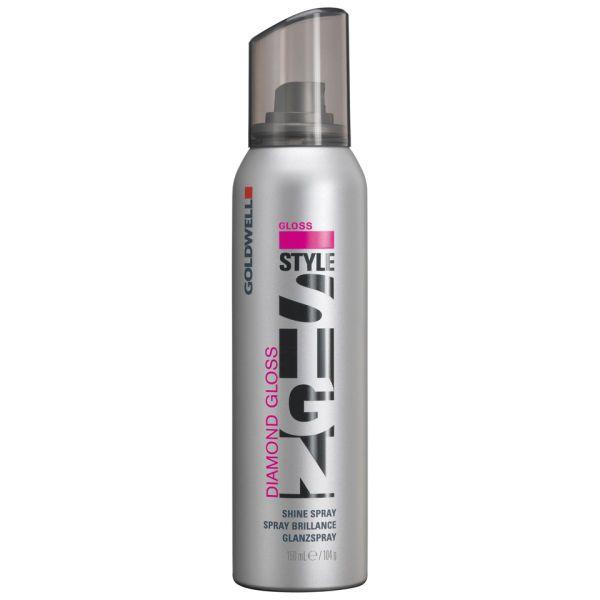 GOLDWELL STYLSIGN DIAMOND GLOSS  Shine Spray. Microfijne glansspray voor intensieve, lang houdbare briljantie. Ontspant gestrest of weerbarstig haar. Met antikroes-effect en kleurbescherming.