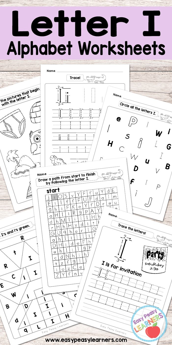 Free Printable Letter I Worksheets - Alphabet Worksheets Series