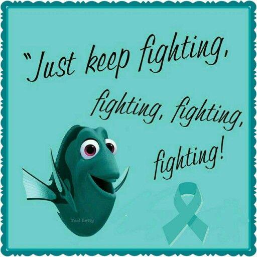 Ovarian Cancer Awareness ~ Just keep fighting , fighting , fighting , fighting !