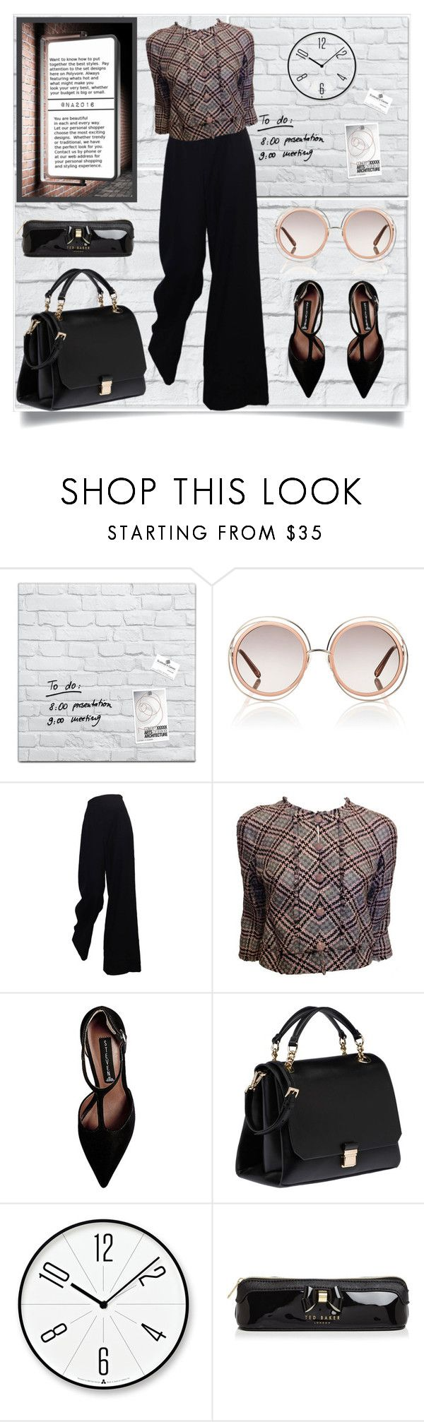 """MEETING"" by menina-ana ❤ liked on Polyvore featuring Chloé, The Row, Chanel, Steve Madden, Miu Miu, Lemnos and Ted Baker"