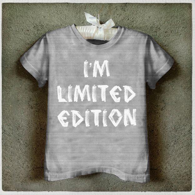 I'm Limited edition  Kids T shirt Camiseta infantil Graphic Tee