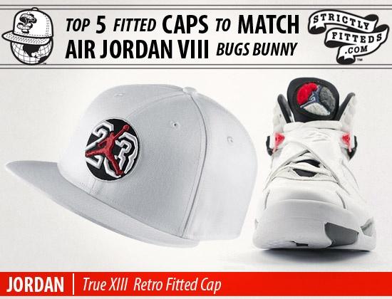 Top 5 Fitted Caps to Match AIR JORDAN VIII Bugs Bunny Kicks