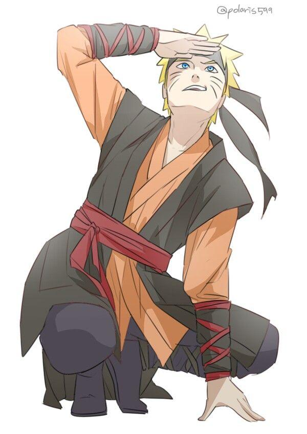 Long-haired Naruto *.* #naruto #uzumaki