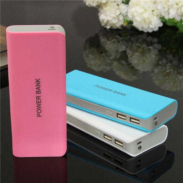 Универсальный 5x18650 LED Dual USB 13000 МАч Зарядное Устройство Power Bank Обновления случае Комплект DIY Портативное устройство Для iPhone Для Samsung Для HTC
