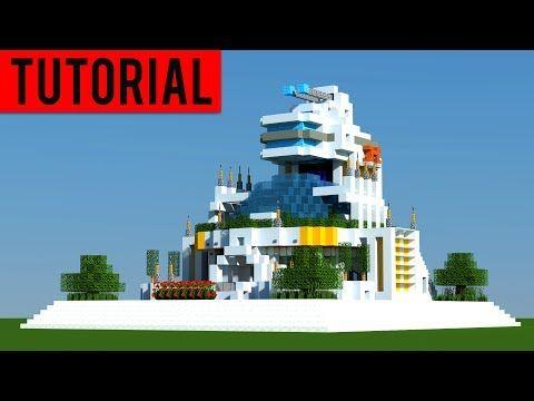 Minecraft: How To Build A FUTURISTIC Village / Modern House Tutorial ...