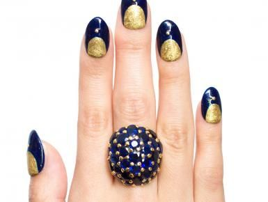 For both jewelry and beauty lovers, #topstylehub.com is offering the Lewis Manicure, a dome sapphire .. #topstylehub, #top style hub,
