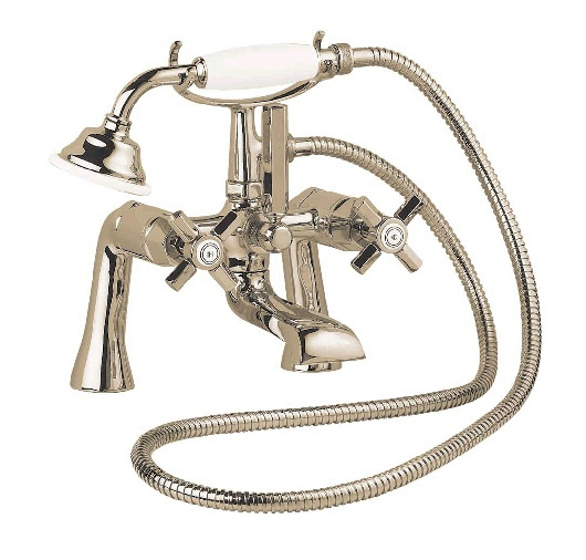 The Deva Artesian Pillar Mounted Bath Shower Mixer Tap GOLD Is Part Of Traditional